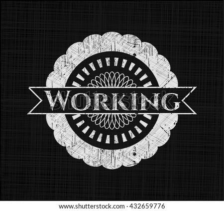 Working chalkboard emblem