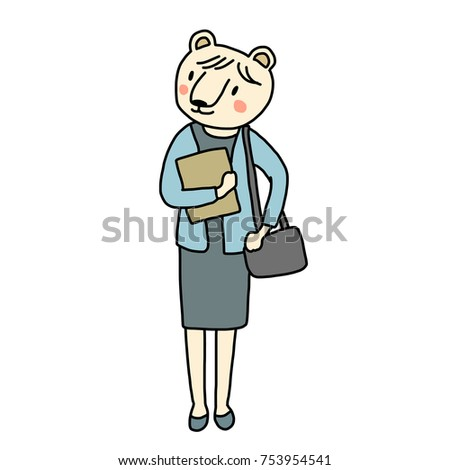 working life concept with cute