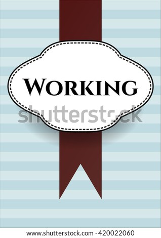 Working poster or banner