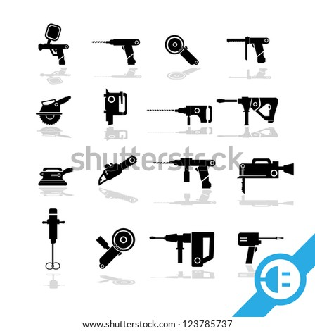 Working tools icon set  1