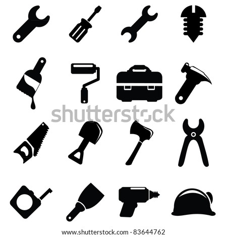 Working tools icon set - stock vector