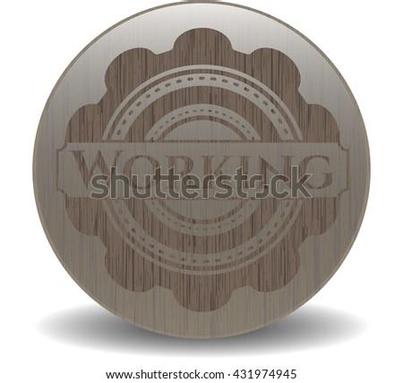 Working wood emblem