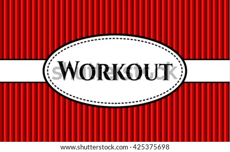 Workout card or banner
