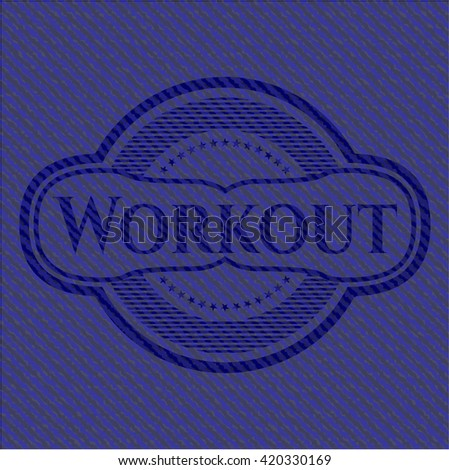 Workout emblem with jean high quality background
