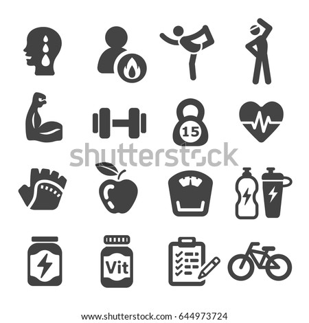 workout, exercise icons