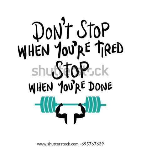 Workout gym fitness bodybuilding motivation concept / Vector print design