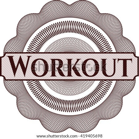 Workout rosette (money style emplem)