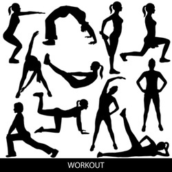 Workout silhouettes
