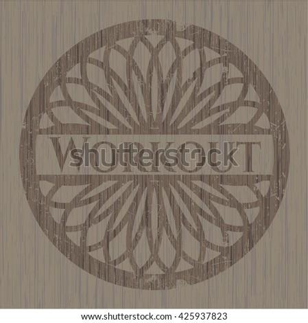 Workout wood emblem. Retro