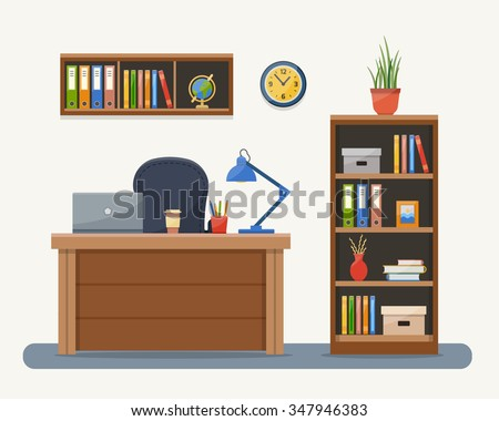 workplace in office. cabinet...