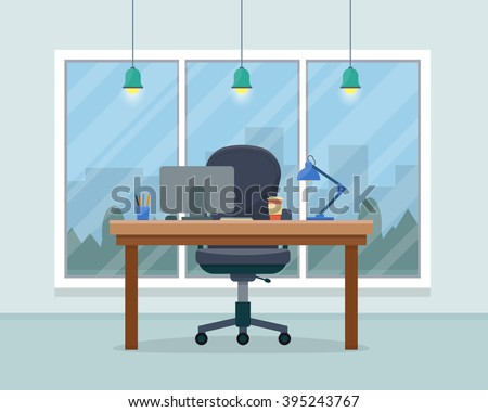 workplace in office cabinet