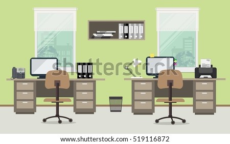 Free Office Workplace Vector Background Download Free Vector Art