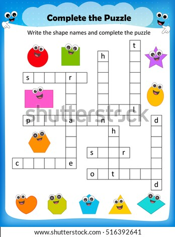 Worksheet complete the crossword puzzle 2d shapes worksheet for worksheet complete the crossword puzzle 2d shapes worksheet for preschool kids ibookread Read Online