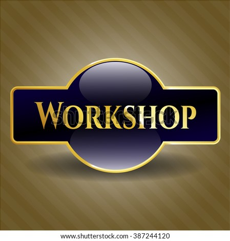 Workshop gold shiny emblem