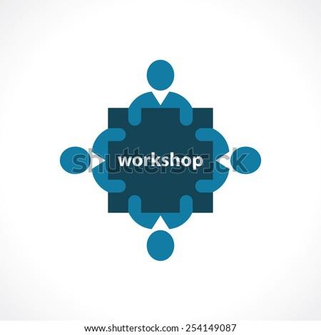 workshop icon. concept symbol