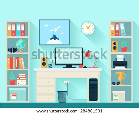 workspace in room with computer