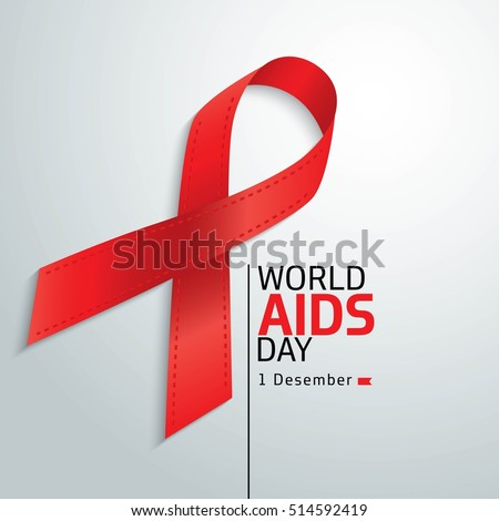 World Aids Day. Aids Awareness. 1st December World Aids Day. Vector illustration