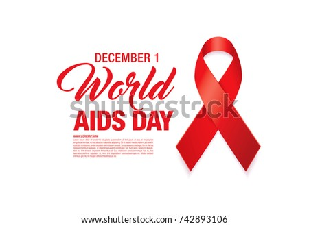 world aids day poster layout design, vector illustration
