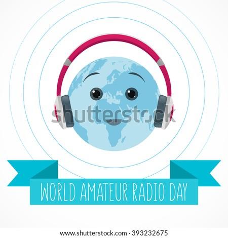 world amateur radio day blue