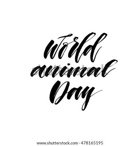 world animal day card hand