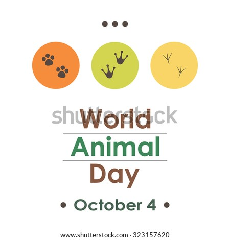 world animal day dots greeting