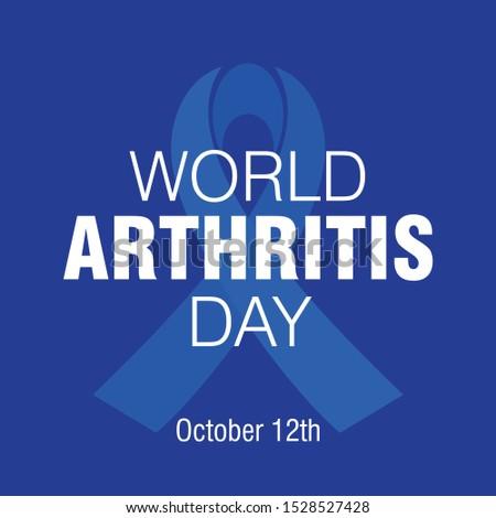 World Arthritis Day. October 12th. Vector logo Illustration.