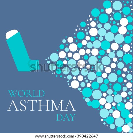 world asthma day concept with a