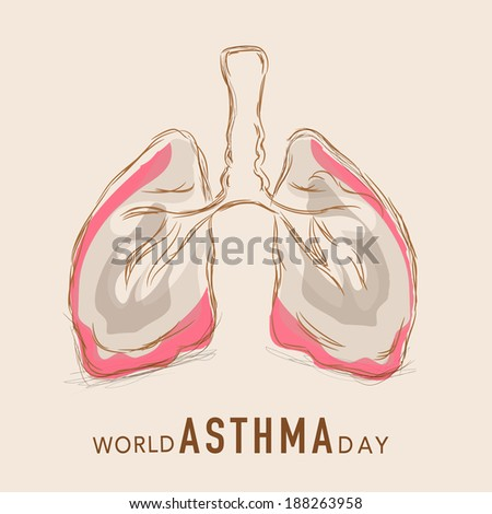 Pneumology Stock Images, Royalty-Free Images & Vectors ... |Human Lungs With Asthma