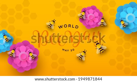 world bee day web banner