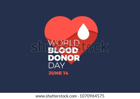world blood donor day emblem