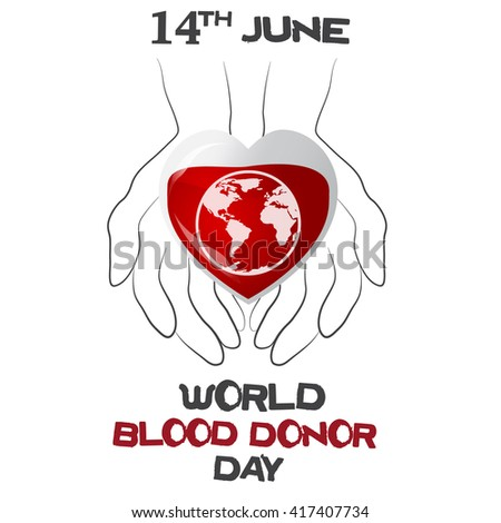 world blood donor day  vector