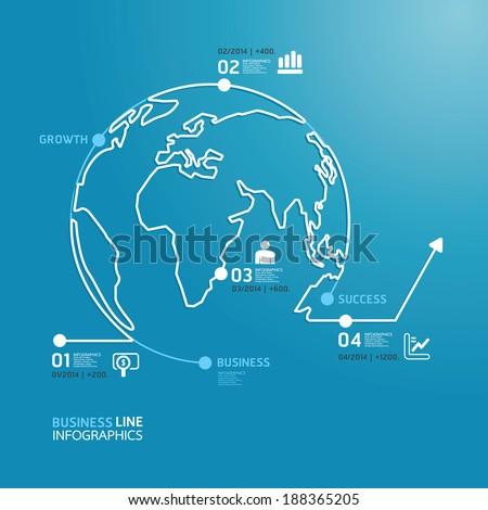 world business diagram line