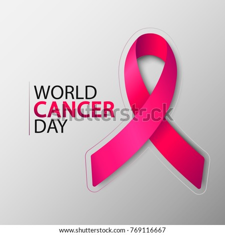 World Cancer Day with ribbon. February 4 #769116667