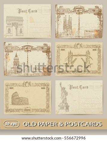 world capitals. vintage set....
