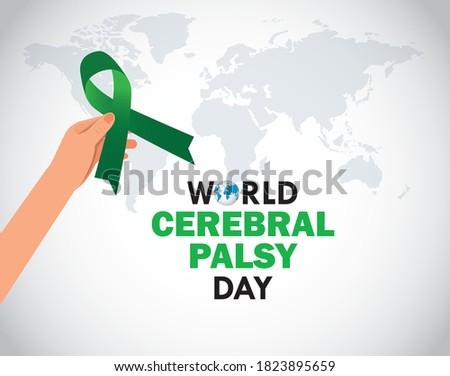 world cerebral palsy day. good for world cerebral palsy day celebration. vector illustration. Stock photo ©
