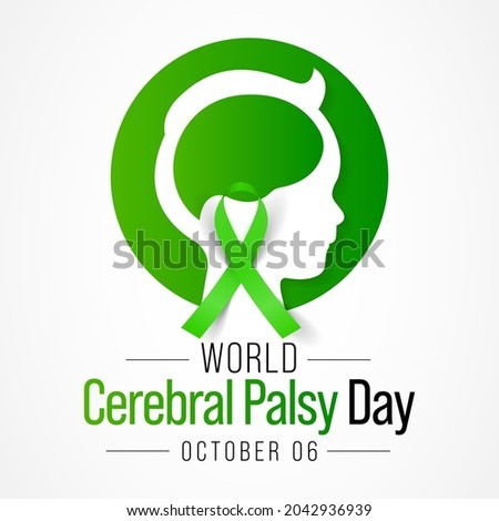 World Cerebral Palsy day is observed every year on October 6, CP is a group of disorders that affect a person's ability to move and maintain balance and posture. Vector illustration