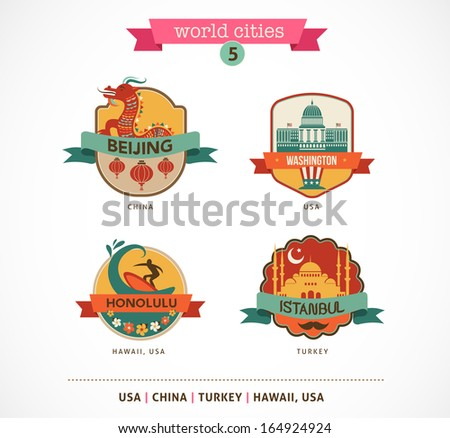 world cities labels   beijing