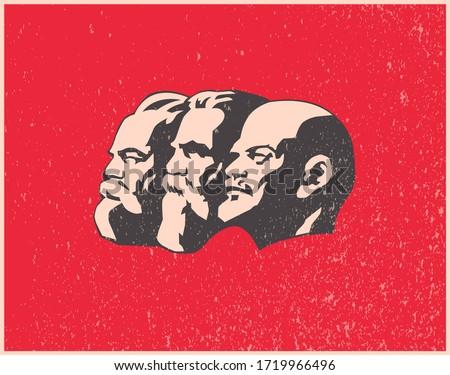 world communist leaders vector