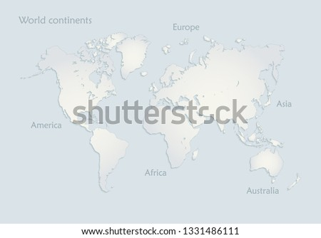 Map Of America 3d Vector.Shutterstock Puzzlepix