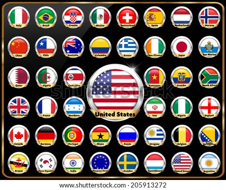 world countries vector flag