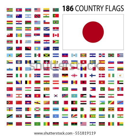 world country flags icon vector