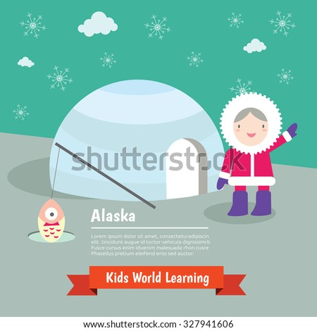 World , Country , Nation Kids learning , USA , Alaska