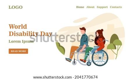 world disability day banner a