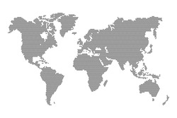 World dots map. Vector illustration. Black template for media design and business infographic, website, design, cover, annual reports.