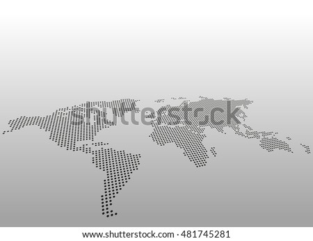 Free vector pixel world map download free vector art stock world dotted map vector background asymmetric perspective view gumiabroncs Choice Image