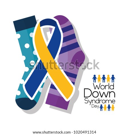 world down syndrome day card invitation event campaign