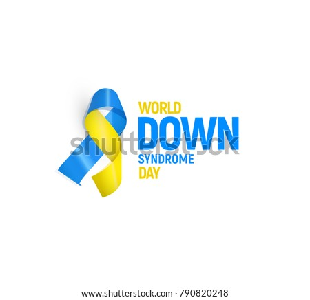 World down syndrome day, vector illustration template.