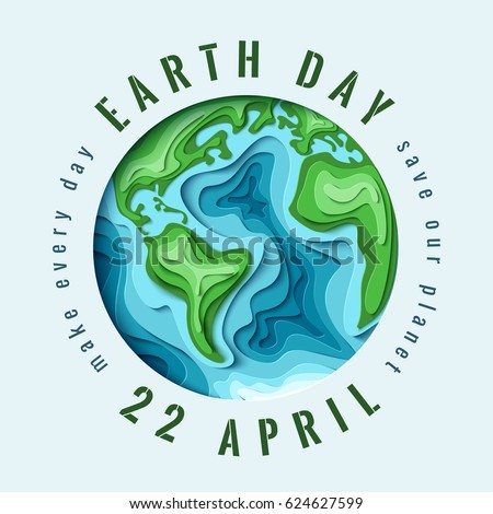 world earth day concept 3d