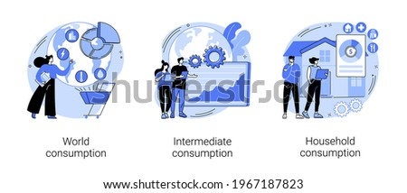 World economy abstract concept vector illustrations.