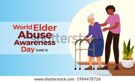 World Elder Abuse Awareness Day on june 15 business brochure flyer banner design horizontal template vector, cover presentation, modern publication poster and flag-banner. Stock photo ©